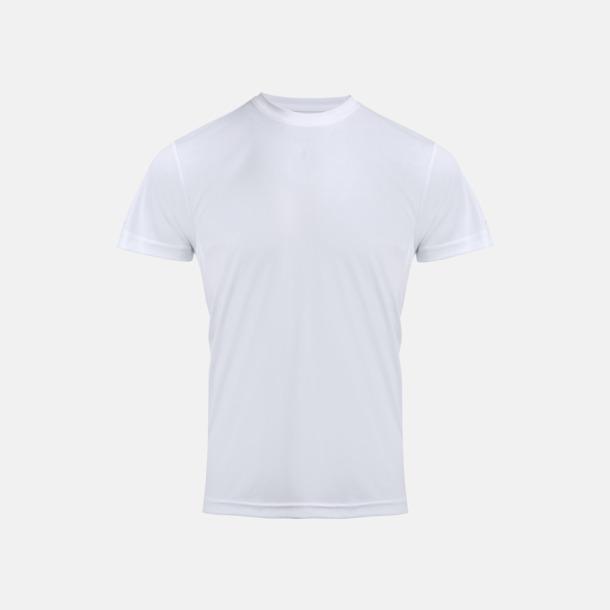 Vit Coolchecker t-shirts med reklamtryck