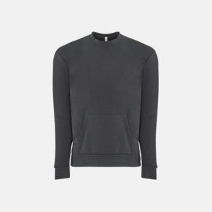 Fleece sweatshirts med framficka - med reklamtryck