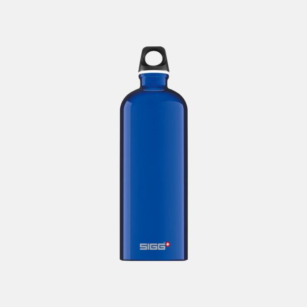 1L Blå - Blank Äkta SIGG-flaskor med eget tryck