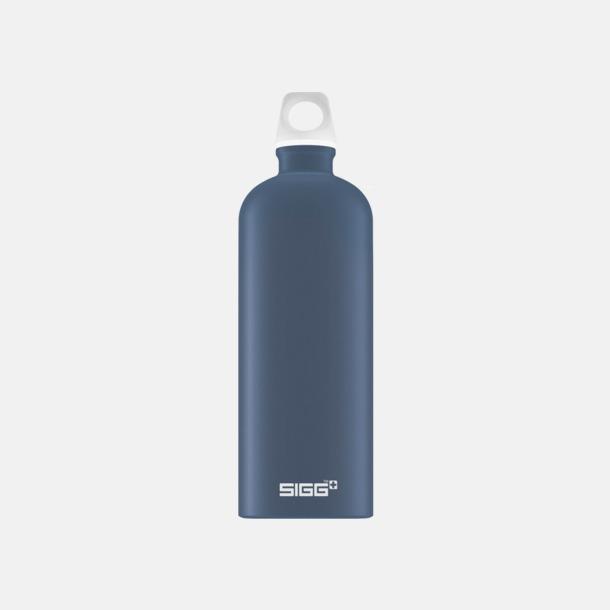 1L Duvblå - Matt Äkta SIGG-flaskor med eget tryck