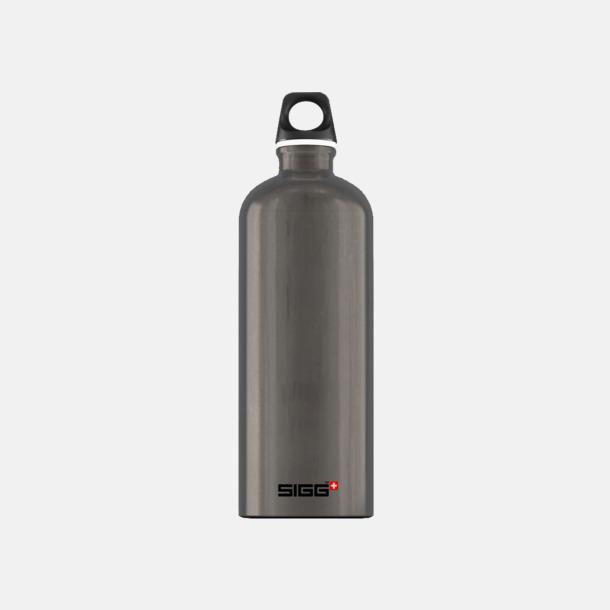1L Rökgrå - Blank Äkta SIGG-flaskor med eget tryck