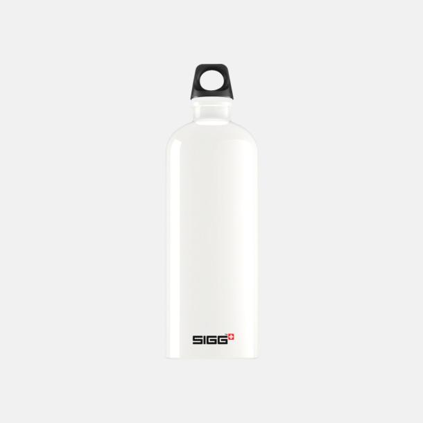 1L Vit - Blank Äkta SIGG-flaskor med eget tryck