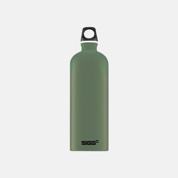 1L Mossgrön - Matt Äkta SIGG-flaskor med eget tryck