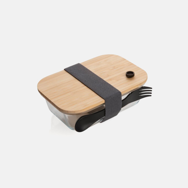 Ljust trä Lunchlåda 1,3 L - Med eget tryck