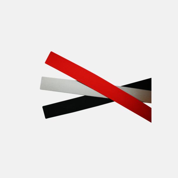 Baksida - Svart, Grå alt Röd Reflexband Slap Wraps med eget tryck