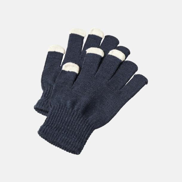 Marinblå Vantar för touchscreens