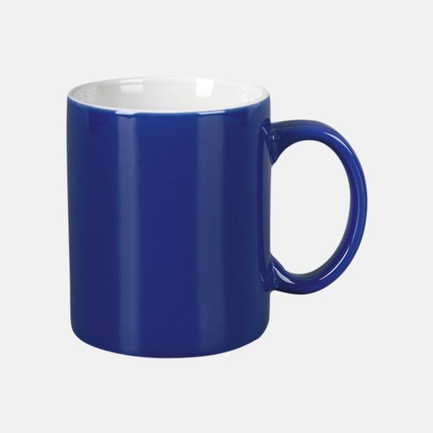 Blå / Vit Basmugg 300 ml - med tryck