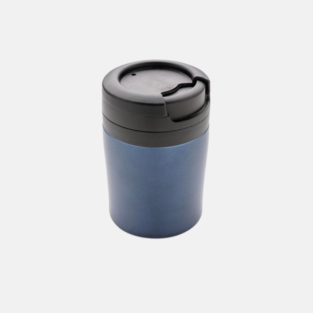 Blå (utan handtag) Små termosmuggar med eller utan handtag - med reklamtryck
