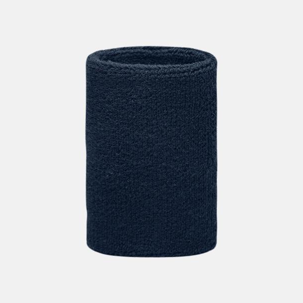 Marinblå Extra brett armsvettband med brodyr