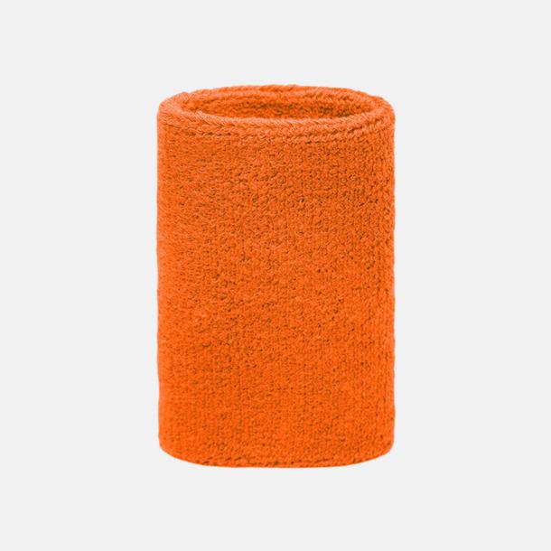 Orange Extra brett armsvettband med brodyr