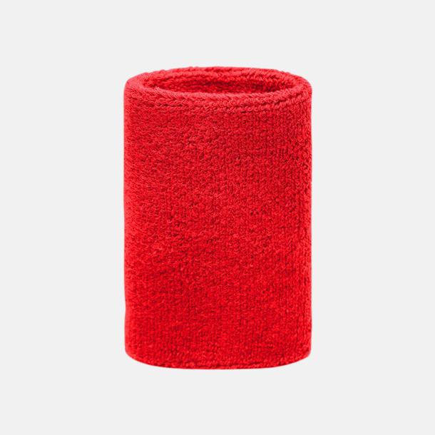 Röd Extra brett armsvettband med brodyr