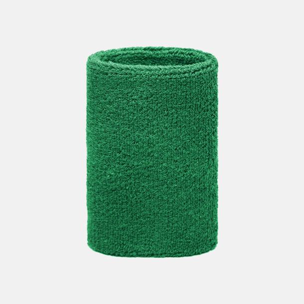 Grön Extra brett armsvettband med brodyr