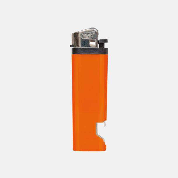 Orange Engångständare med kapsylöppnare - med reklamtryck