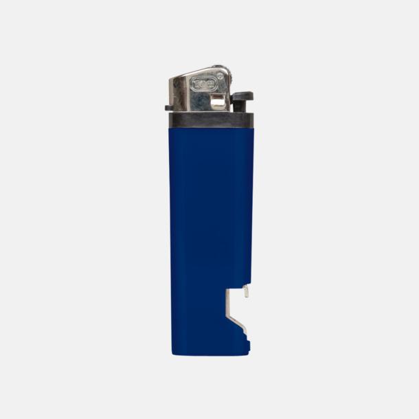 Marinblå Engångständare med kapsylöppnare - med reklamtryck