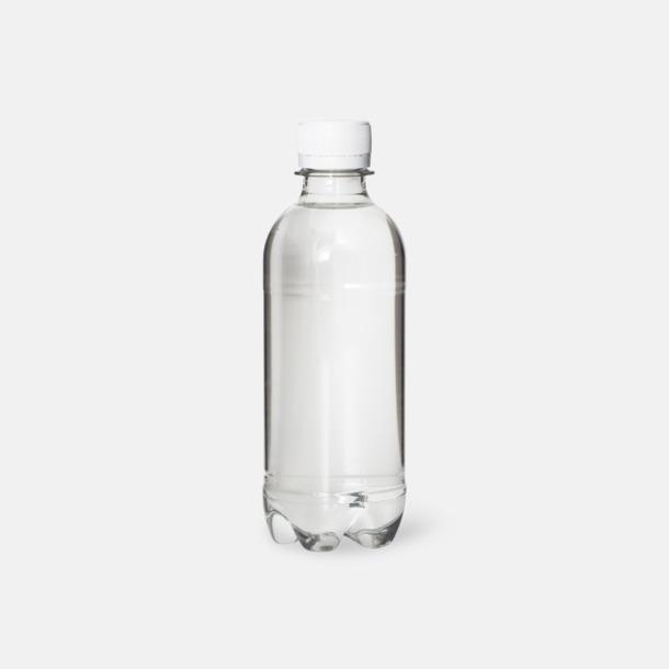 Blank flaska - vit kork Vatten med egen etikett